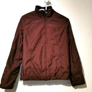Esprit burgundy zip up high neck  jacket s 7